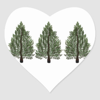 Tripple Pines Heart Sticker