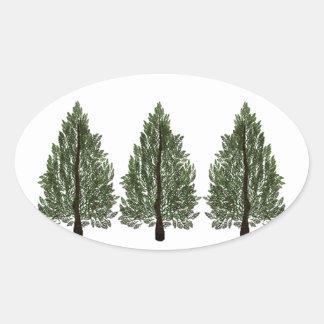 Tripple Pines Oval Sticker