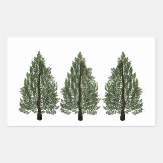 Tripple Pines Rectangular Sticker