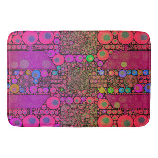 Trippy Abstract Leopard Bath Mat