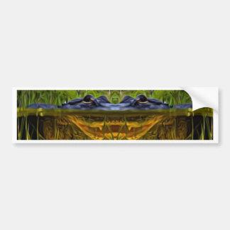 Trippy Alligator Bumper Sticker