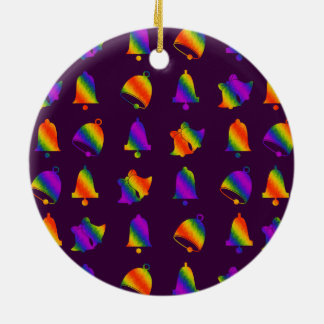 Trippy Bells Ceramic Ornament