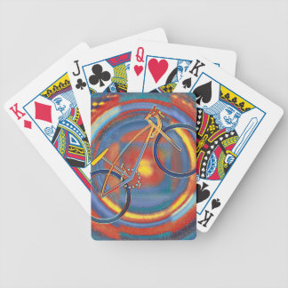 trippy bike bicycle playing cards