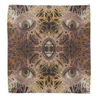 Trippy Brown Eyes Abstract Bandana
