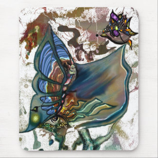 Trippy Butter Fly - Mousepad