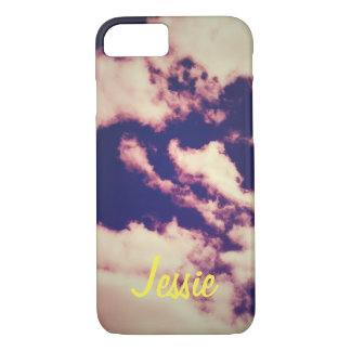 Trippy clouds iphone 7 case (add your name)