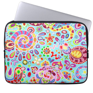 Trippy Colorful Abstract Art Laptop Computer Sleeves