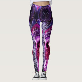 Trippy Drugs Horror Acid Party Leggings