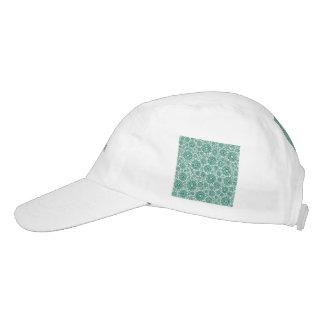 trippy floral aqua (c) hat