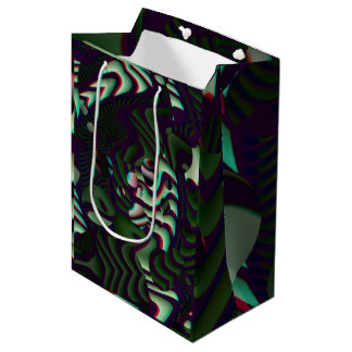 Trippy Florescent Abstract Medium Gift Bag