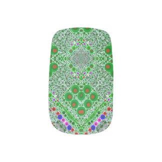 Trippy Florescent Green Abstract Minx Nail Art