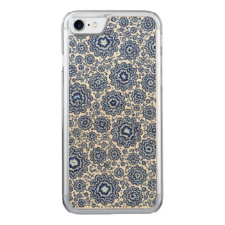 trippy foral blue (c) carved iPhone 7 case