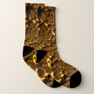 Trippy Fractal Art Chocolate Pudding Abstract Socks