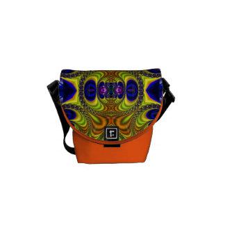 Trippy Fractal Art Rickshaw Messenger Mini Bag Commuter Bags