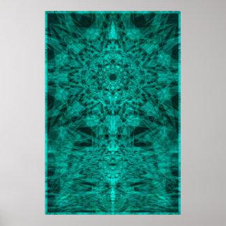Trippy Geometric Bliss Poster