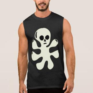 Trippy Ghost Skull Blob sleeveless shirt