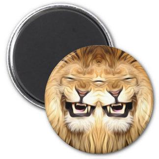 Trippy Happy Lion Magnet