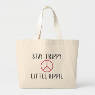 Trippy Hippie Large Tote Bag