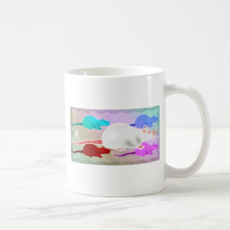 Trippy Hippy Rainbow Pet Rats Coffee Mug