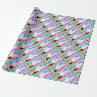 Trippy Hippy Rainbow Pet Rats Wrapping Paper