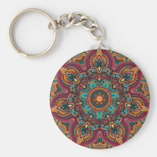 "Trippy Mandala 2.25"" Basic Button Keychain"