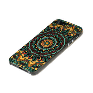 Trippy Mandala iPhone 5/5s Feather® Shine, Gold Incipio Feather® Shine iPhone 5 Case