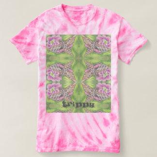 Trippy Mirror Flying Pastel Sphinx Moth Flower Art T-Shirt
