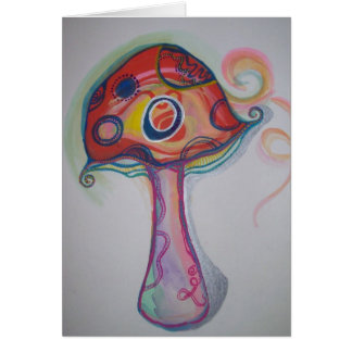 Trippy Mushroom Card - Hippie Blank Notecard