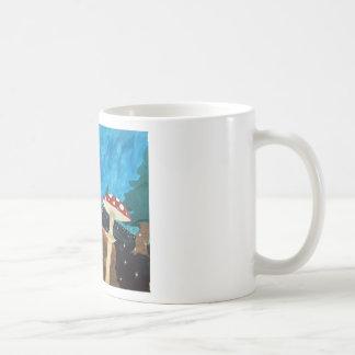 trippy night in the woods coffee mug