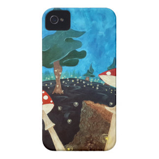 trippy night in the woods iPhone 4 Case-Mate case