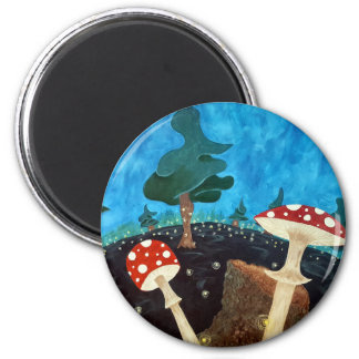 trippy night in the woods magnet