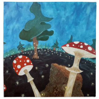 trippy night in the woods napkin