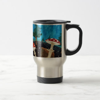 trippy night in the woods travel mug