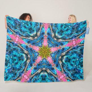 Trippy Ocean Starfish Mandala Fleece Blanket