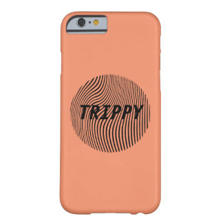 Trippy Optical Illusion Minimal w/ Peach Barely There iPhone 6 Case