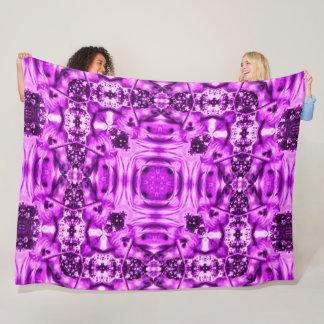 Trippy Pink Unicorn Magic Mandala Silk Fleece Blanket