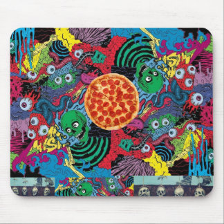 trippy pizza munchy monsters mouse pad