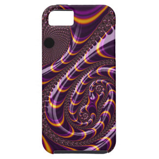 Trippy Purple Black Fractal Twirls Art Decor Cover For iPhone 5/5S