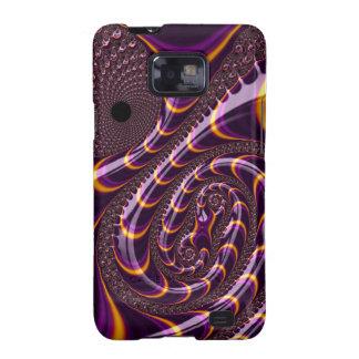 Trippy Purple Black Fractal Twirls Art Decor Samsung Galaxy SII Cases