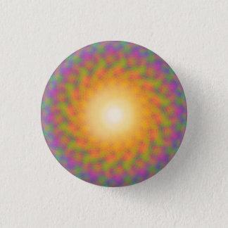 Trippy Rainbow Sunburst 3 Cm Round Badge