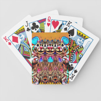 Trippy Rave Rat Bicycle Playing Cards