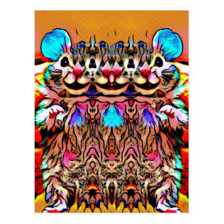 Trippy Rave Rat Postcard