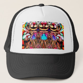 Trippy Rave Rat Trucker Hat