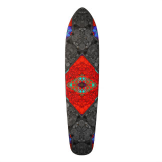 Trippy Red Blk Abstract 21.6 Cm Old School Skateboard Deck