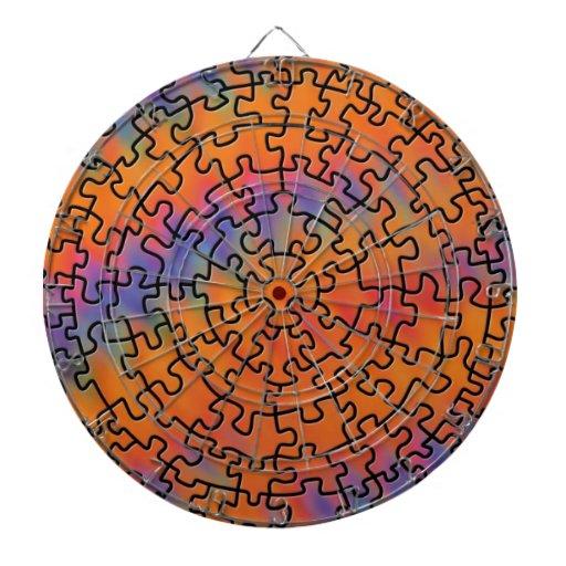 Trippy Retro Puzzle Dart Board