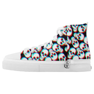 Trippy Skeleton converse Printed Shoes