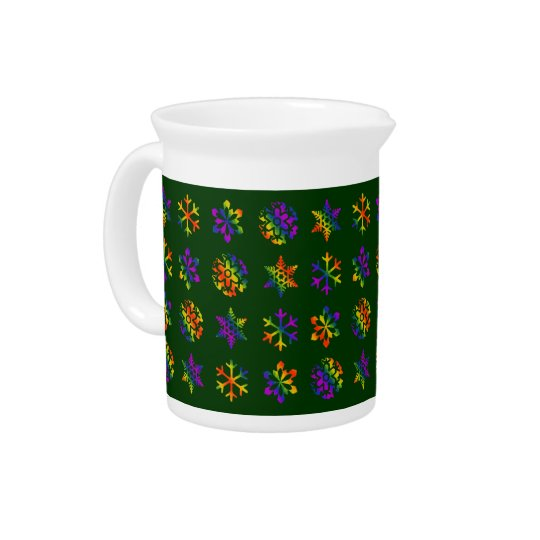 Trippy Snowflakes Drink Pitcher