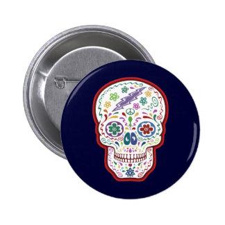 Trippy Sugar Skull 6 Cm Round Badge