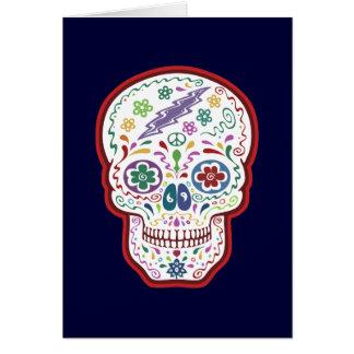 Trippy Sugar Skull Greeting Card