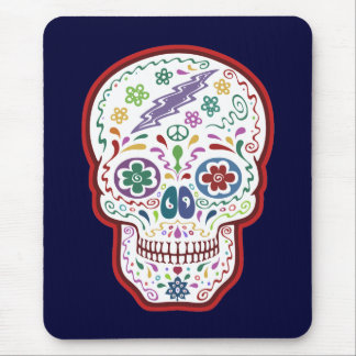 Trippy Sugar Skull Mouse Pad